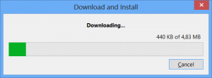 Download of the extension
