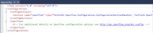 Your App.config has been updated