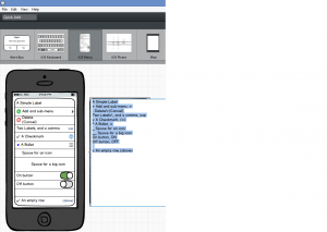 A image showing how a control in Balsamiq can be customized for each specific need